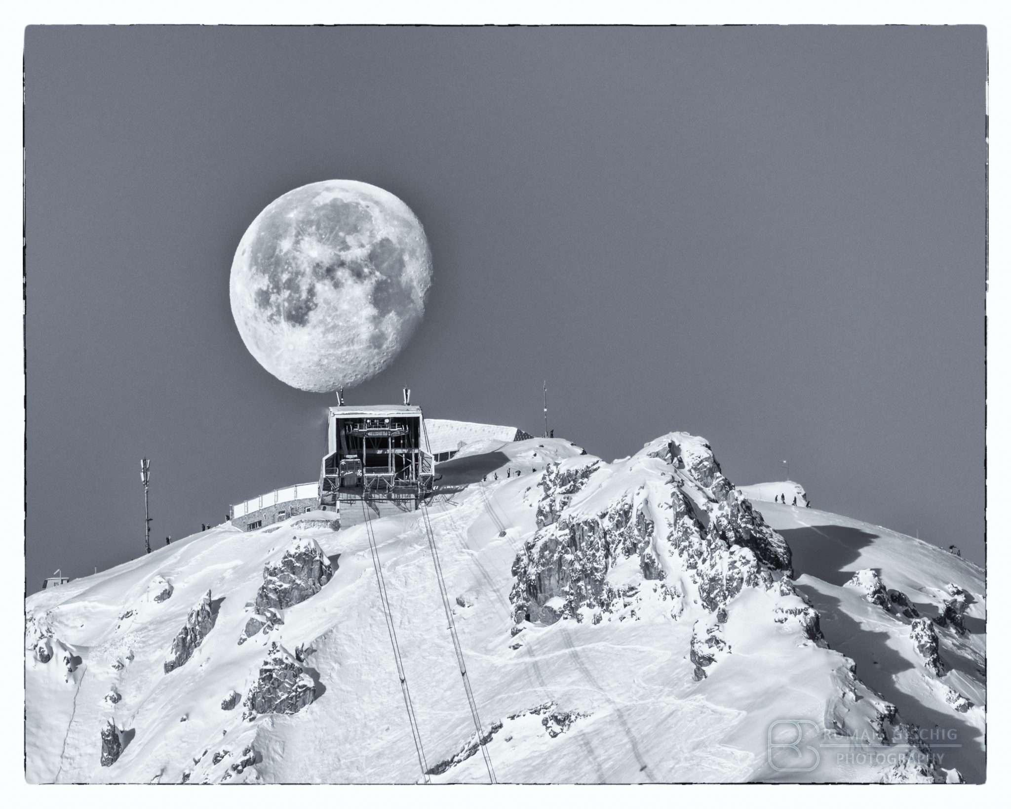 Mavic Air over snowy Arosa