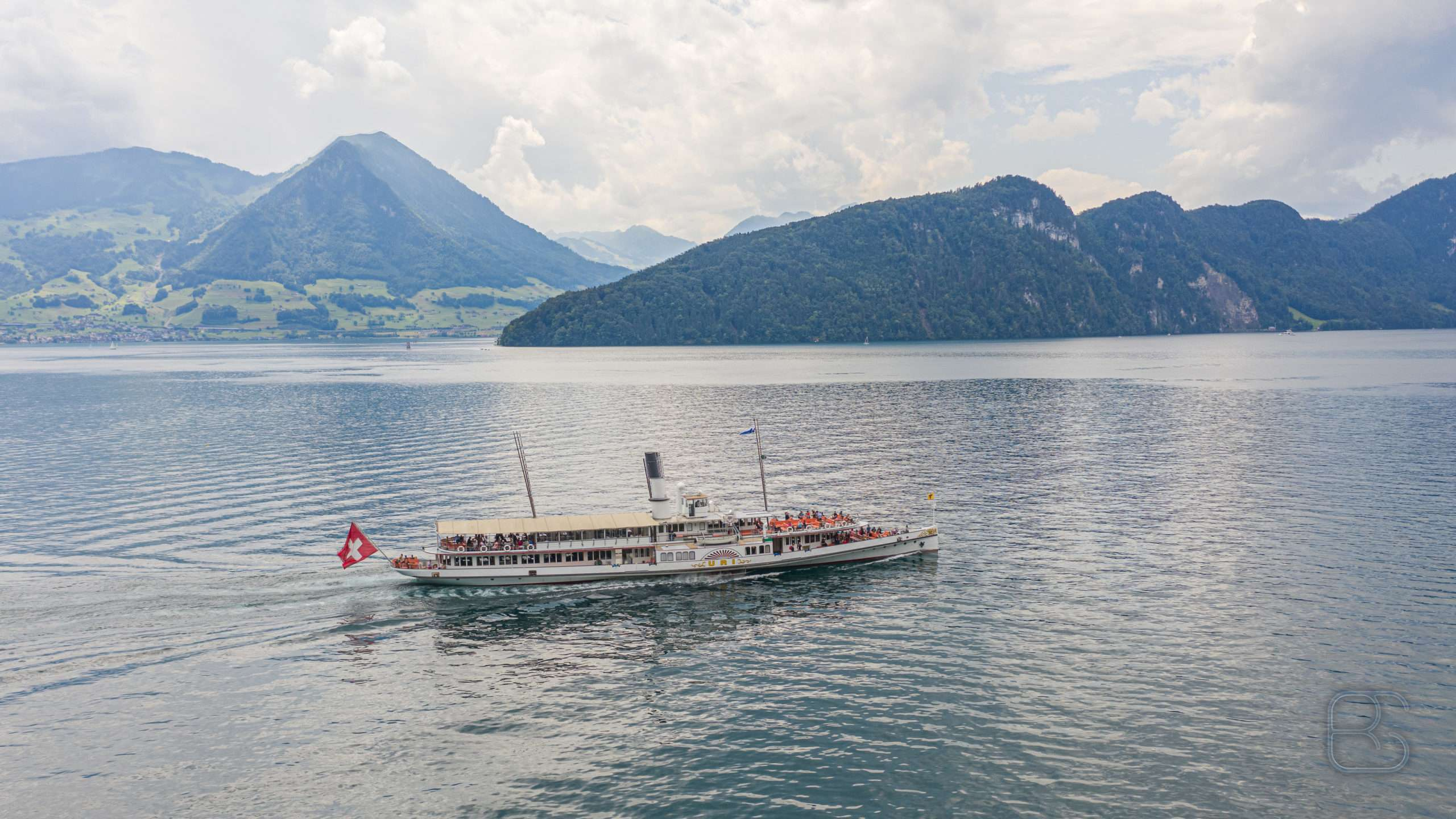 The Steamboat Uri on lake Lucern